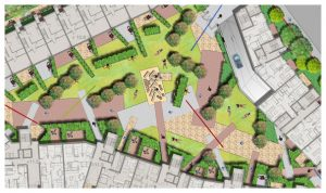 Davis Landscape Architecture 1 Ruckholt Road London Residential Landscape Rendered Masterplan Icon