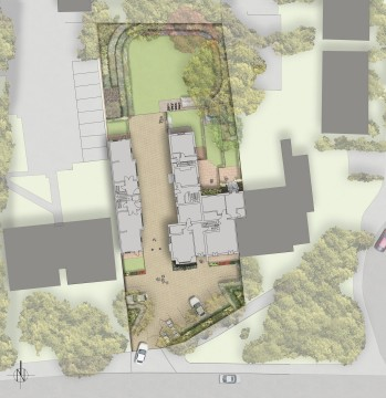 Davis Landscape Architecture Addiscombe Road Landscape Design Architects Rendered plan