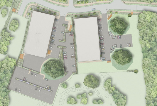 Davis Landscape Architecture Chelmsford Business Park Plots K & L Landscape Architect Rendered Plan