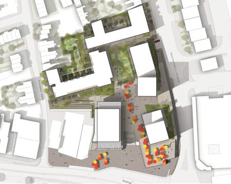 Davis Landscape Architecture Marine Plaza Southend on Sea Mixed Use Landscape Architect Render Masterplan