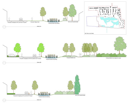 Davis Landscape Architecture Star Lane Ph2 Residential Landscape Design Architects Sections Swale Outline Planning