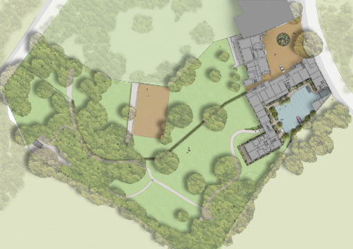 Davis Landscape Architecture Holcombe House London Residential Landscape Design Architect Render Masterplan Planning
