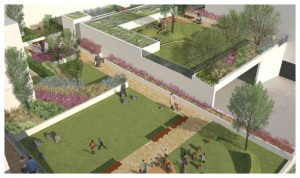 Davis Landscape Architecture 5 The Oaks, Acton London Mixed Use Landscape Visualisation Podium Deck Roof Garden Planning Icon