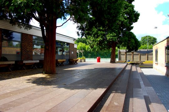 Davis Landscape Architecture Stanley Primary School London Landscape Architect Steps Existing Trees Retained