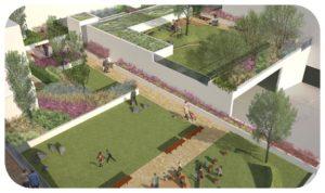 Davis Landscape Architecture The Oaks Acton London Mixed Use Landscape Visualisation Podium Deck Roof Garden Planning Icon