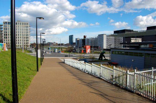 Davis Landscape Architecture East Village Marketing Suite London Public Realm Landscape Architect Ramp