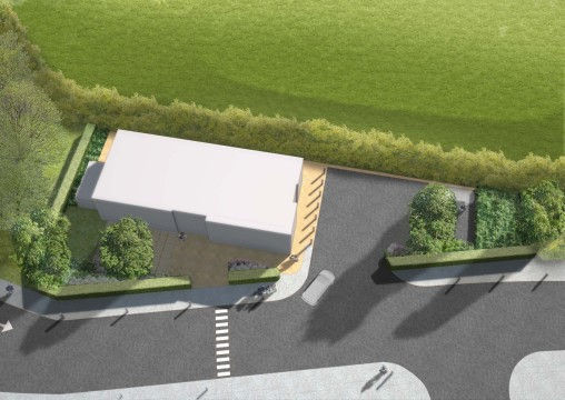Davis Landscape Architecture Costa Coffee Huntingdon Commercial Landscape Design Architect Rendered Visualisation Planning