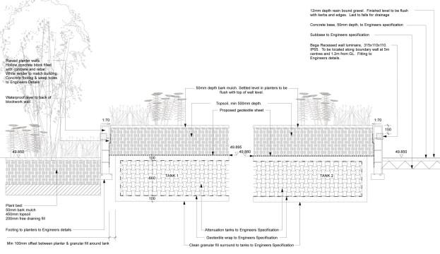 Davis Landscape Architecture Mile End Road London Residential Landscape Design Architect Technical Section Tender