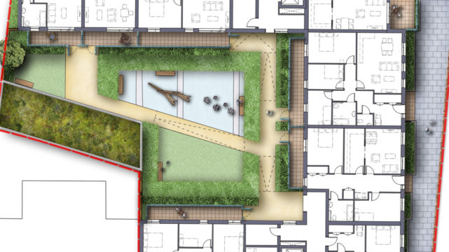 Davis Landscape Architecture Watts Grove London Residential Landscape Architect Rendered Plan Play Planning B