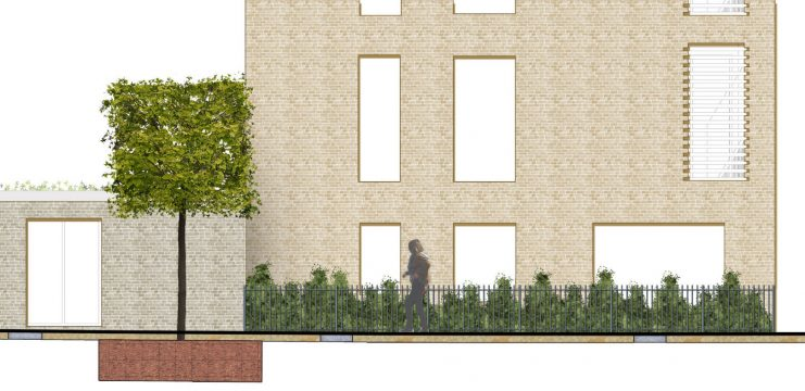 Davis Landscape Architecture Watts Grove London Residential Landscape Rendered Section Planning 3