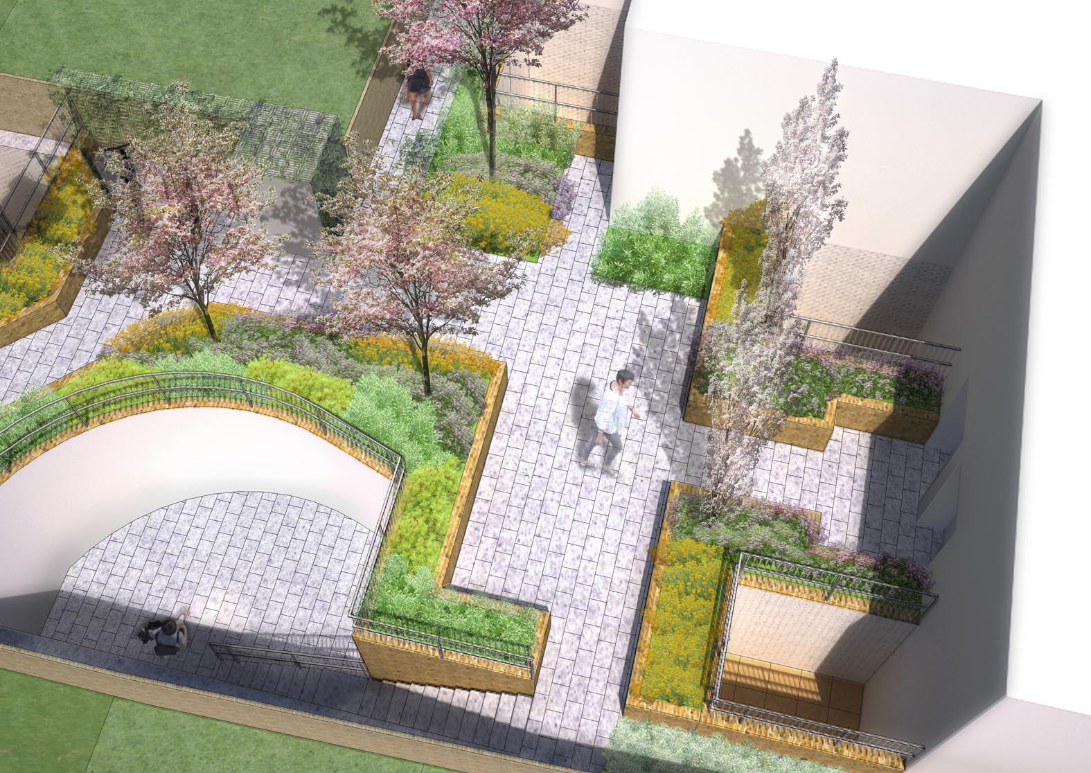 Street landscape design images for Residential landscape plan