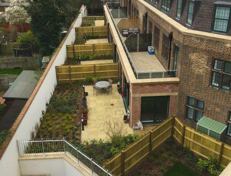 Davis Landscape Architecture MHT House Crescent Lane Residential Landscape Architect Complete Rear Gardens