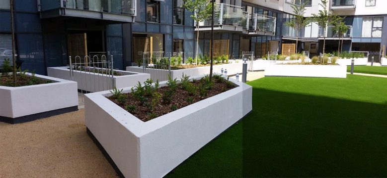 Davis Landscape Architecture St Lukes Canning Town London Residential Landscape Architect Design Podium Deck Courtyard Planter