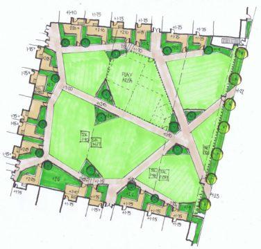 Davis Landscape Architecture St Lukes Canning Town London Residential Landscape Architect Design Podium Deck Courtyard Sketch Plan Concept