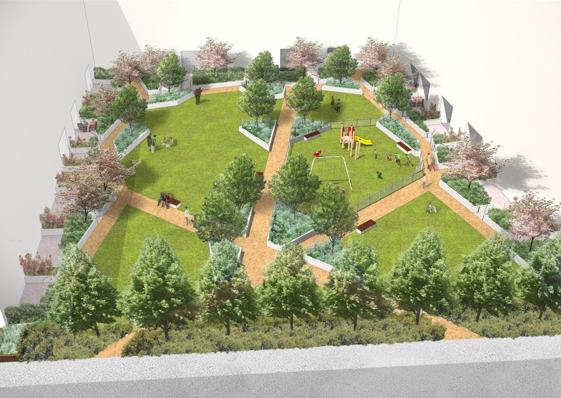 Davis landscape architecture st luke 39 s square landscape for Landscape design london