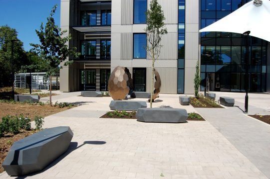 Davis Landscape Architecture Maurice Wilkes Building Cambridge Office Landscape Architect Design Public Amenity Sculpture Complete