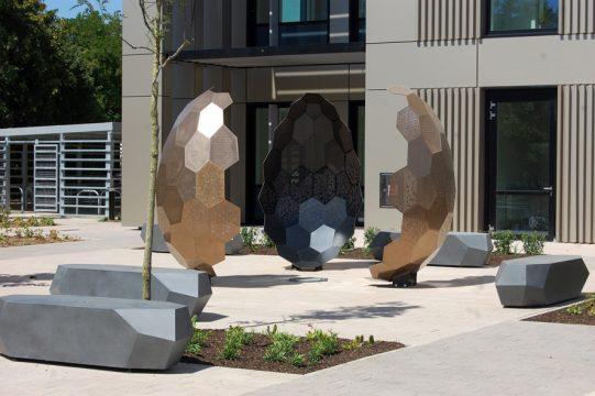 Davis Landscape Architecture Maurice Wilkes Building Cambridge Office Landscape Architect Design Sculpture Complete