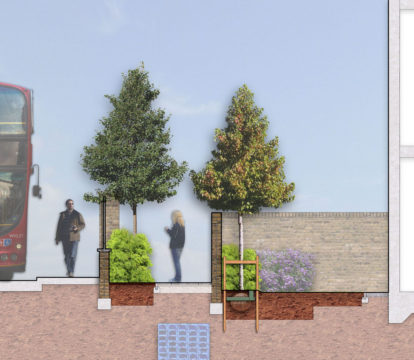 Davis Landscape Architecture Park Grove Acton London Residential Landscape Architect Design Rendered Section 1