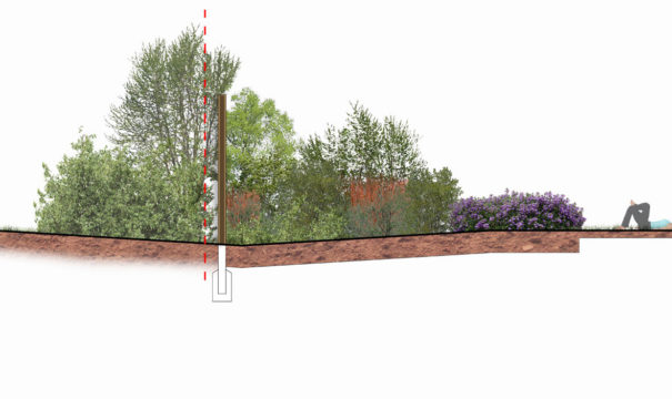 0377 Davis Landscape Architecture Pieris Place Bulphan Essex Boundary Render Section Residential Landscape Architect Design Conditions Tender Green Belt