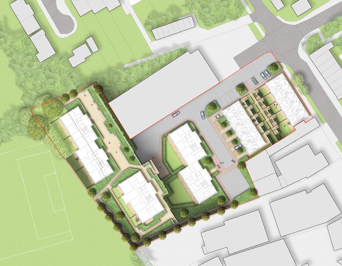 0389 Davis Landscape Architecture The Dean Alresford Hampshire Residential Architect Design Detailed Planning Render Plan