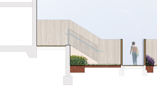 0389 Davis Landscape Architecture The Dean Alresford Hampshire Residential Landscape Architect Design Detailed Planning Render Section 1a