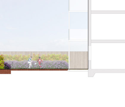 0389 Davis Landscape Architecture The Dean Alresford Hampshire Residential Landscape Architect Design Detailed Planning Render Section Podium Deck 1b
