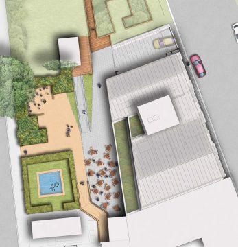 0302 Davis Landscape Architecture Vauxhall City Farm Lambeth Public Space Landscape Architect Design Planning Plan Render
