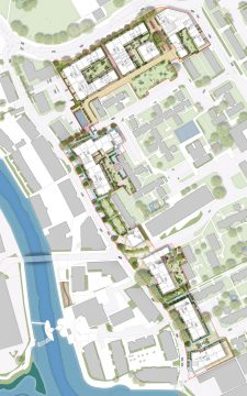 0429 Davis Landscape Architecture Gascoigne West Barking London Residential Masterplan Landscape Architect Design Outline Planning Rendered