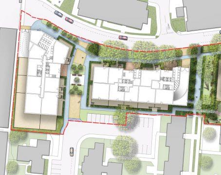 Davis Landscape Architecture Gascoigne West Barking London Residential Masterplan Landscape Architect Design Outline Planning Render Detail 1