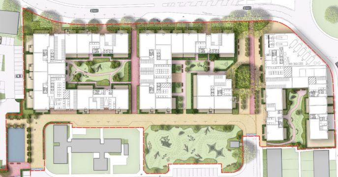Davis Landscape Architecture Gascoigne West Barking London Residential Masterplan Landscape Architect Design Outline Planning Render Detail 4
