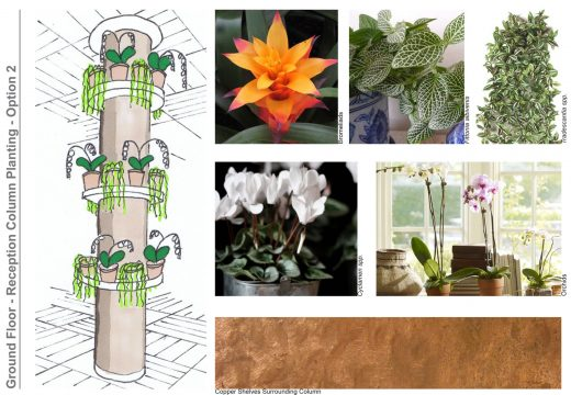 Davis Landscape Architecture Vintry Mercer Hotel Mansion House London Interior Landscape Architect Design Concept Mood Board Column