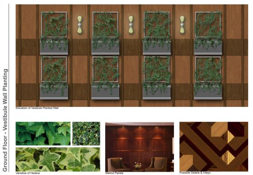 Davis Landscape Architecture Vintry Mercer Hotel Mansion House London Interior Landscape Architect Design Concept Mood Board Vestabule