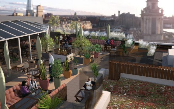 Davis Landscape Architecture Vintry Mercer Hotel Mansion House London Landscape Architect Design Concept Render Roof Terrace