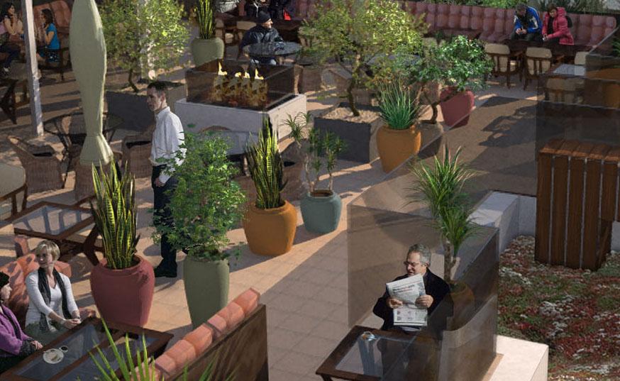 Davis Landscape Architecture Vintry Mercer Hotel Mansion House London Architect Design Concept Render Roof Terrace