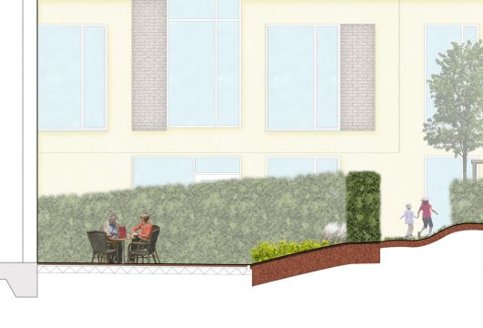 Davis Landscape Architecture Knowles House Brent London Residential Rendered Section 3a Landscape Architect Design Detail Planning