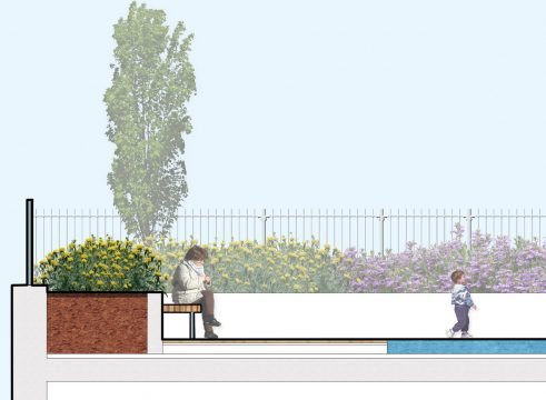 Davis Landscape Architecture Hollybush Place Bethnal Green Tower Hamlets Residential Landscape Architect Design Detailed Planning Podium Deck Play Rendered Section 2l