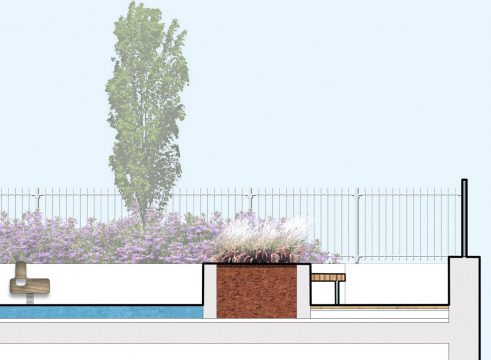 Davis Landscape Architecture Hollybush Place Bethnal Green Tower Hamlets Residential Landscape Architect Design Detailed Planning Podium Deck Play Rendered Section 2r