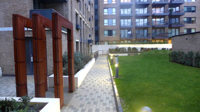 Davis Landscape Architecture Marine Wharf Bermondsey London Residential Landscape Architect Design Podium Deck Entrance Construction