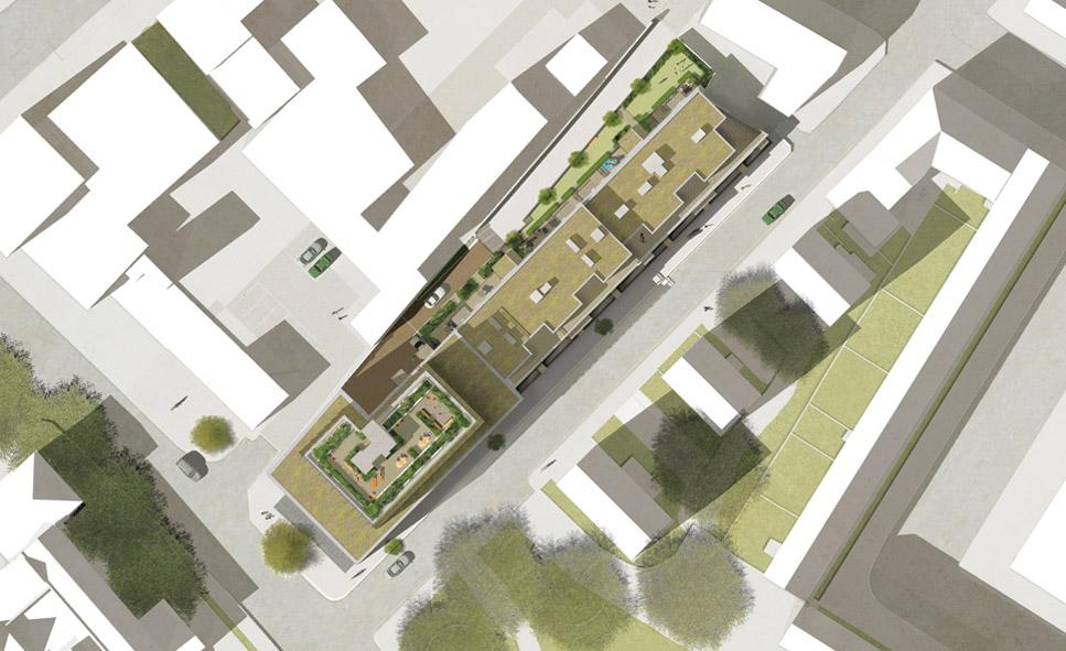 Davis Landscape Architecture Harper Road Borough Residential Podium Deck Roof Garden Architect Design Planning Construction