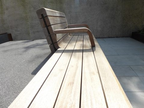 Davis Landscape Architecture London Wall Place Public Realm Landscape Architect Design Bench Construction Detail Complete