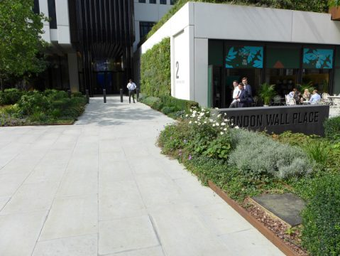 Davis Landscape Architecture London Wall Place Public Realm Landscape Architect Design Corten Steel Planter Construction Complete 4