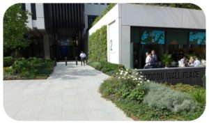 Davis Landscape Architecture London Wall Place Public Realm Landscape Architect Design Corten Steel Planter Construction Complete Icon