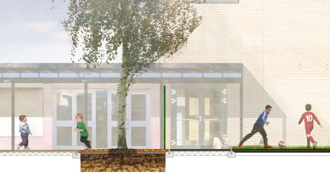 Davis Landscape Architecture Gordon Infant School Ilford Redbridge London Landscape Architect Design Rendered Section Planning