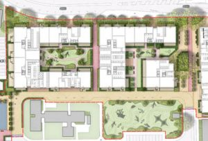 181025 Davis Landscape Architecture Gascoigne West Barking London Residential Masterplan Landscape Architect Design Outline Planning Render Detail