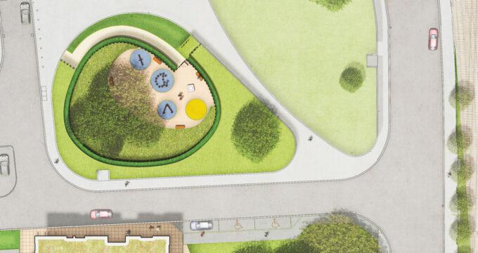 Davis Landscape Architecture Westbury Estate Clapham Lambeth London Residential Rendered Plan Landscape Architect Design Planning Playground
