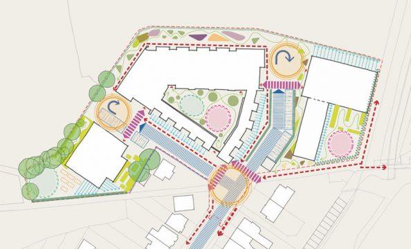 Davis Landscape Architecture London Road Wembley Brent London Render Masterplan Residential Landscape Architect Design Strategy
