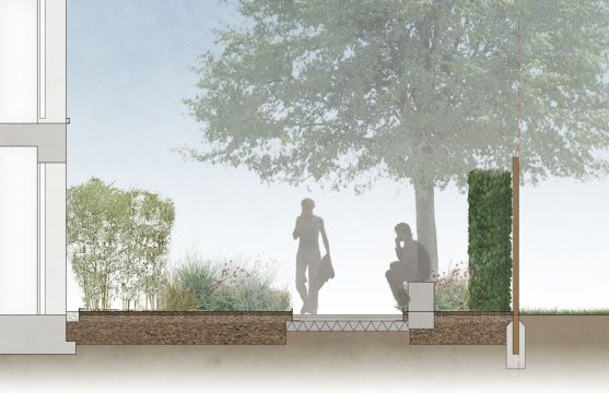 Davis Landscape Architecture London Road Wembley Brent London Render Section Residential Landscape Architect Design 1