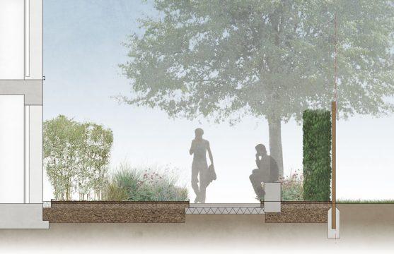 Davis Landscape Architecture London Road Wembley Brent London Render Section Residential Landscape Architect Design 1