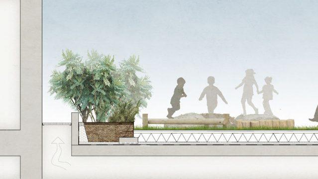 Davis Landscape Architecture London Road Wembley Brent London Render Section Residential Landscape Architect Design 4a