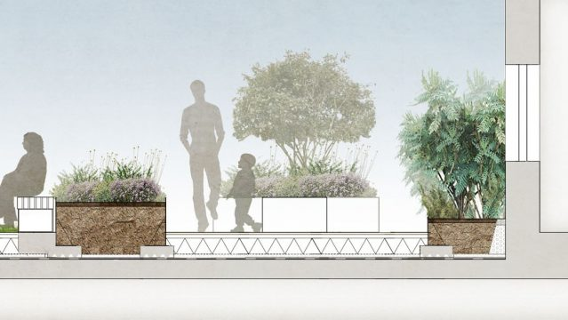 Davis Landscape Architecture London Road Wembley Brent London Render Section Residential Landscape Architect Design 4b